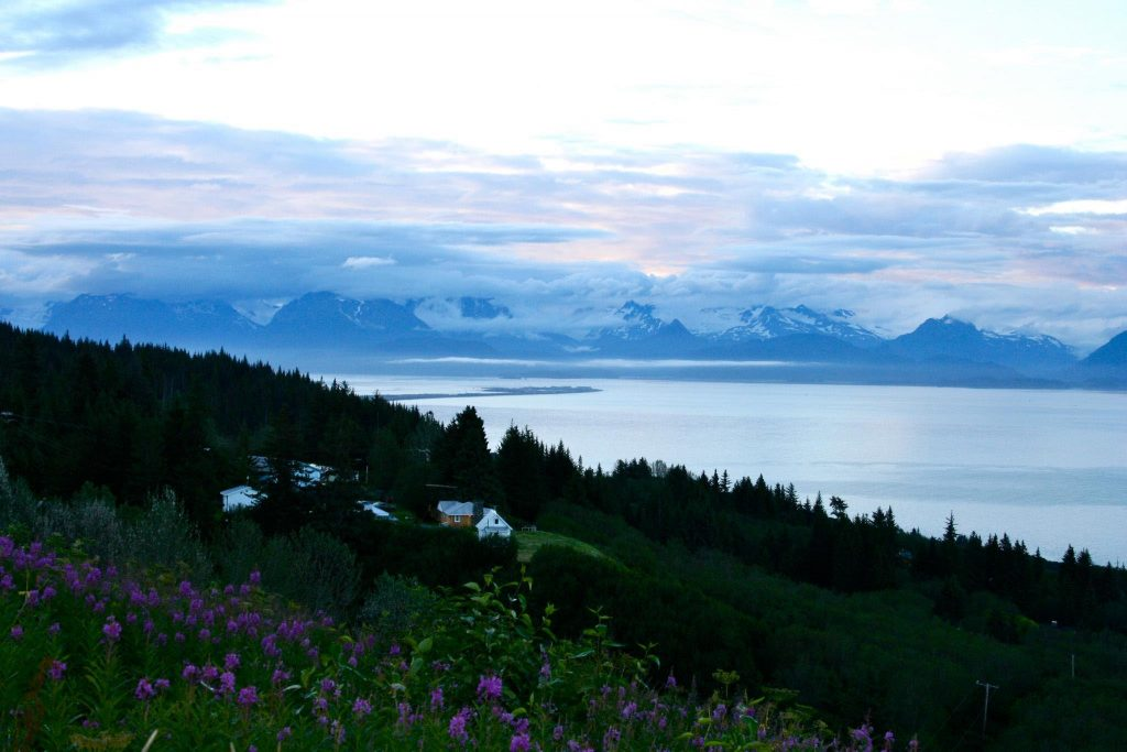 A beautiful shot of the Homer Spit