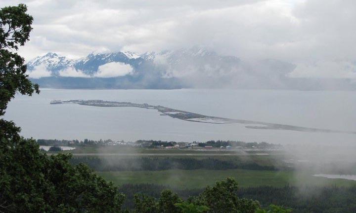 Fog over the Homer Spit