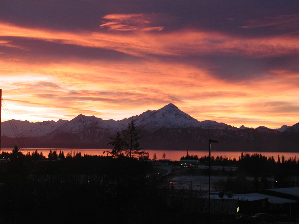 Sunset over Kachemak Bay